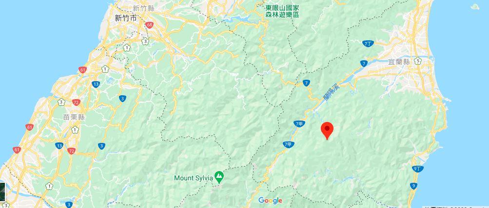 宜兰太平山森林游乐区地理位置地图