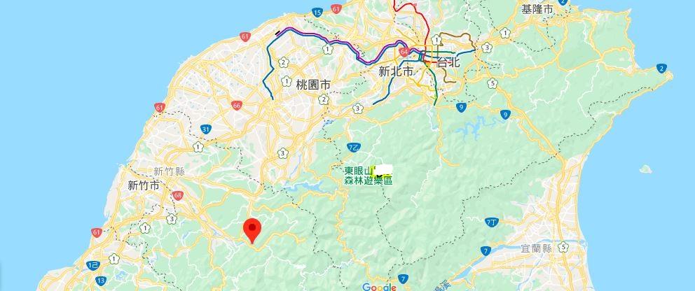 内湾地理位置地图