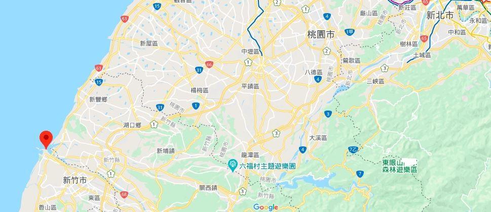新竹十七公里海岸风景区地理位置地图