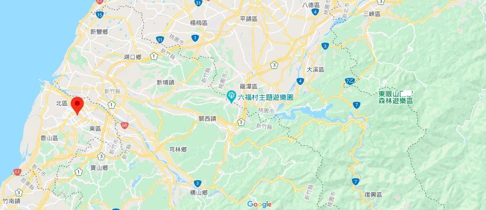 新竹市政府地理位置地图