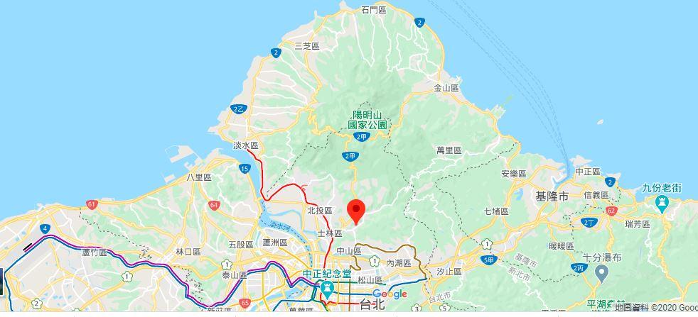 台北故宫地理位置地图