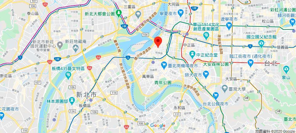 台北清水岩祖师庙地理位置地图