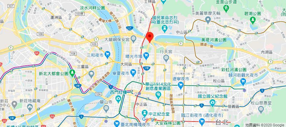 台北故事馆地理位置地图