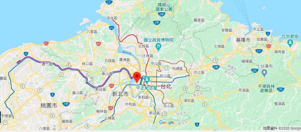台北龙山寺地理位置地图