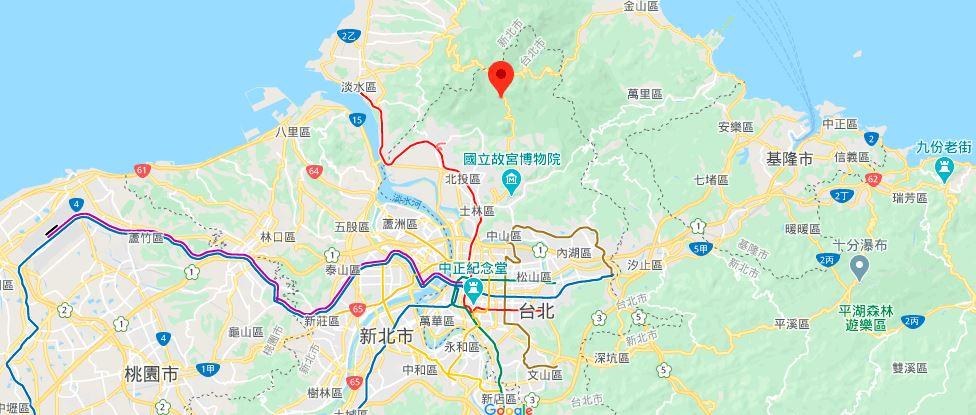 台北阳明书屋地理位置地图