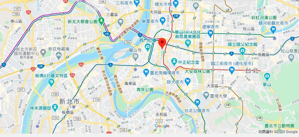 台湾博物馆地理位置地图