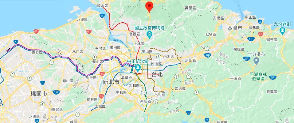 阳明山温泉地理位置地图