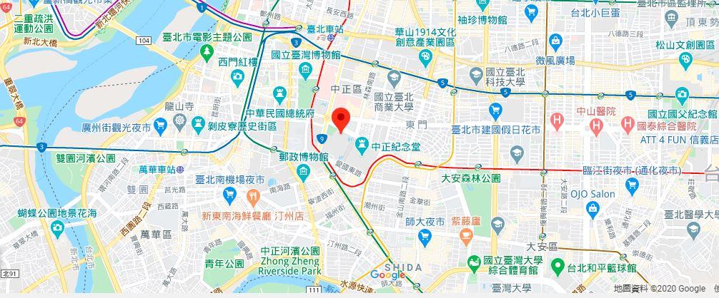 中正纪念堂地理位置地图