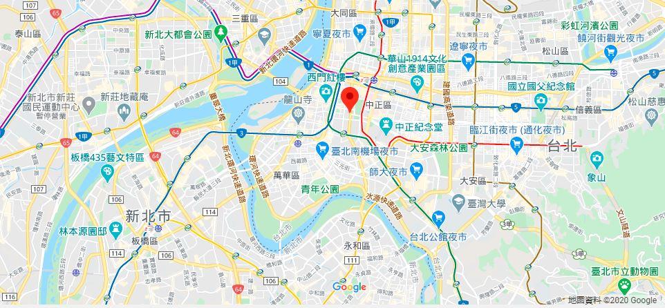 台湾总统府地理位置地图