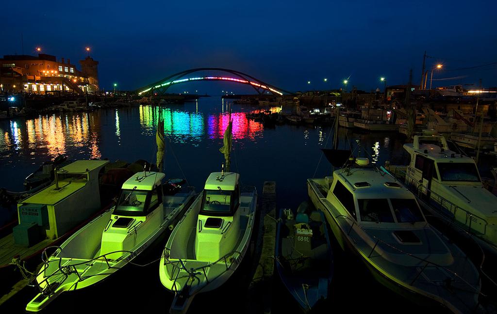 永安渔港夜景