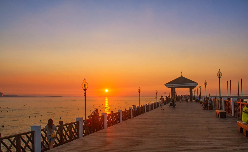 渔人码头美丽夕阳
