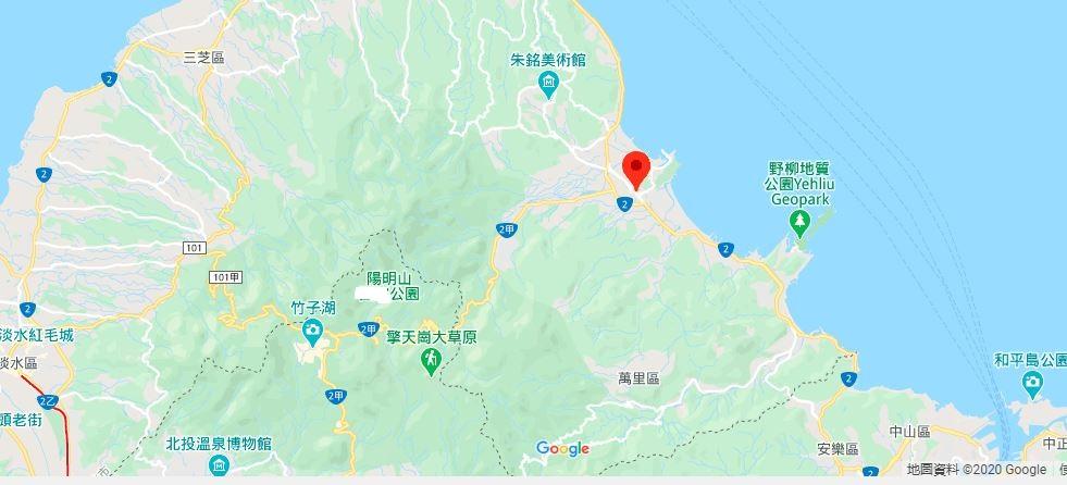 台湾金山地理位置地图