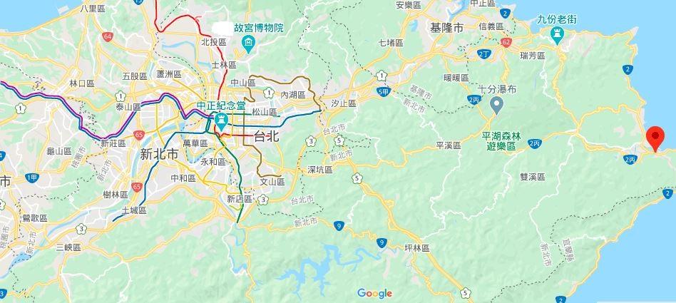 新北龙门露营渡假基地地理位置地图