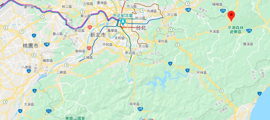 十分风景特定区地理位置地图
