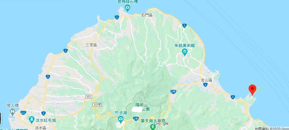 野柳地质公园地理位置地图