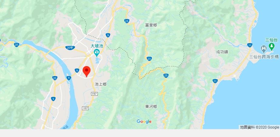 台东伯朗大道地理位置地图