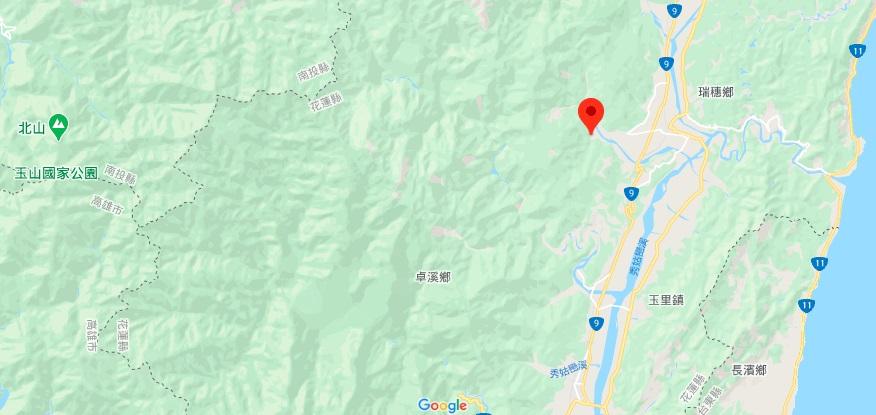 花莲红叶温泉地理位置地图