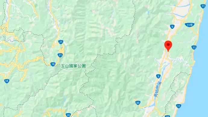 花东纵谷地理位置地图