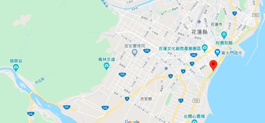 花莲太平洋公园地理位置地图