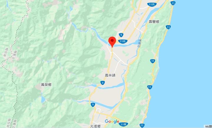 花莲兆丰休闲农场地理位置地图