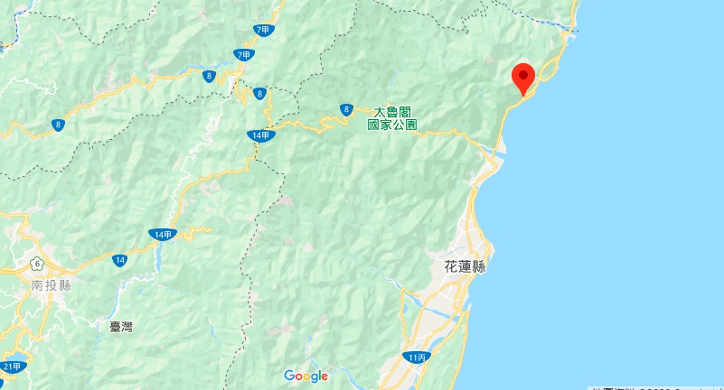 花莲清水断崖地理位置地图