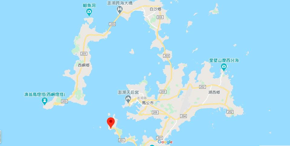 澎湖风柜洞地理位置地图