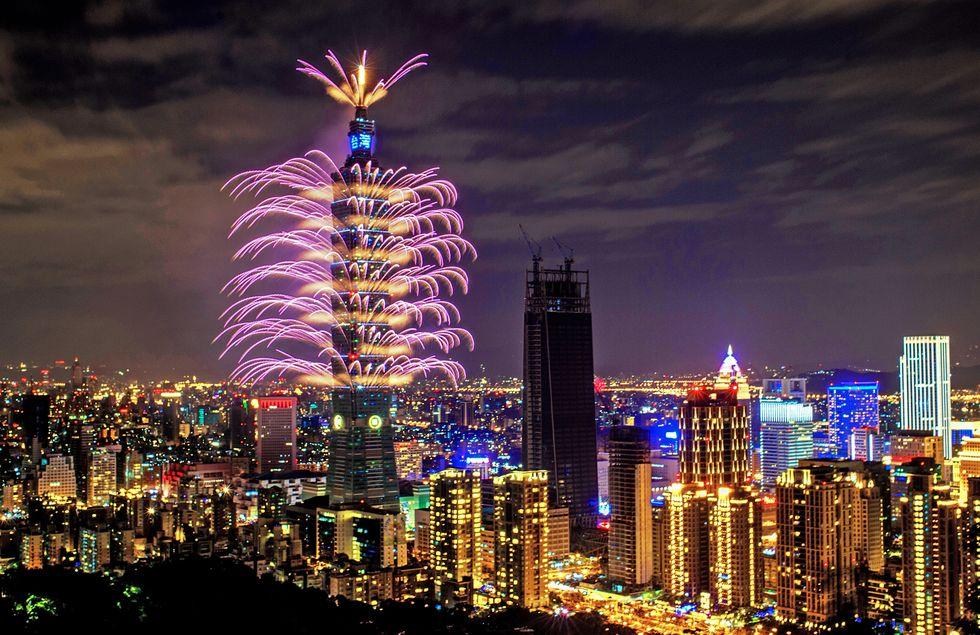 台北跨年烟火