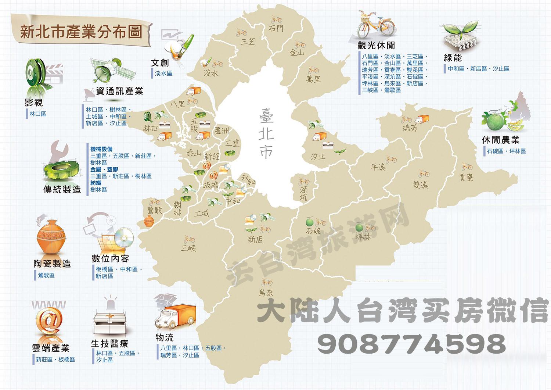 新北市产业区域分布图