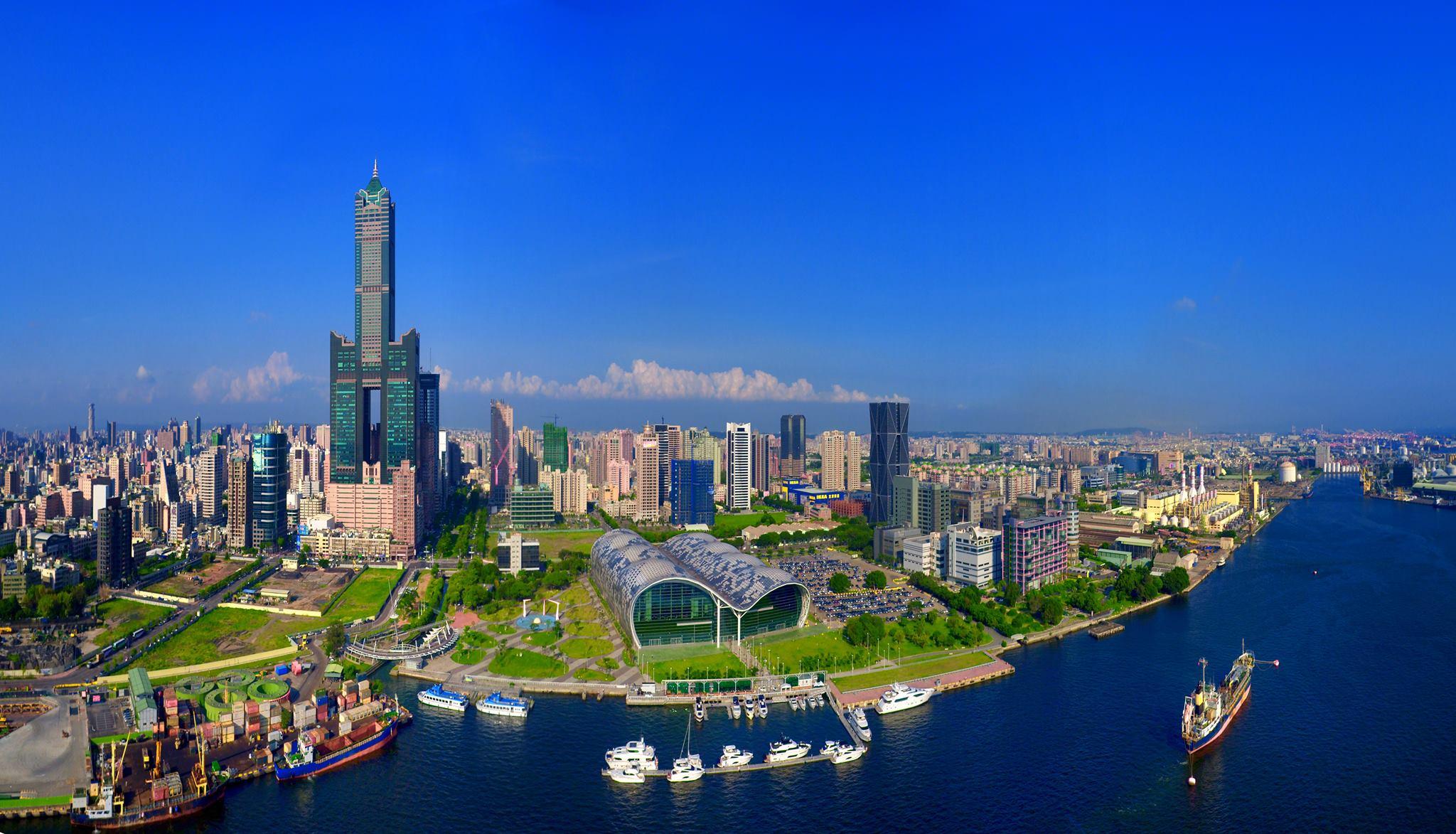 高雄城市港口海景